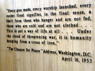 Message on Eisenhower�s Tomb