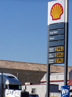Gas in Needles, Ca.