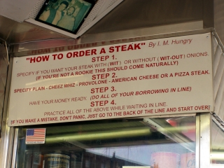 How to Order a Cheesesteak