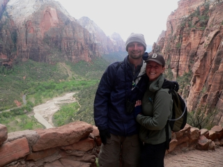 Michael and Gab at Zion NP.
